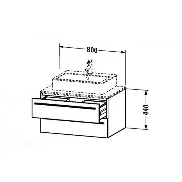 Duravit Тумба подвесная X-LARGE XL671402828