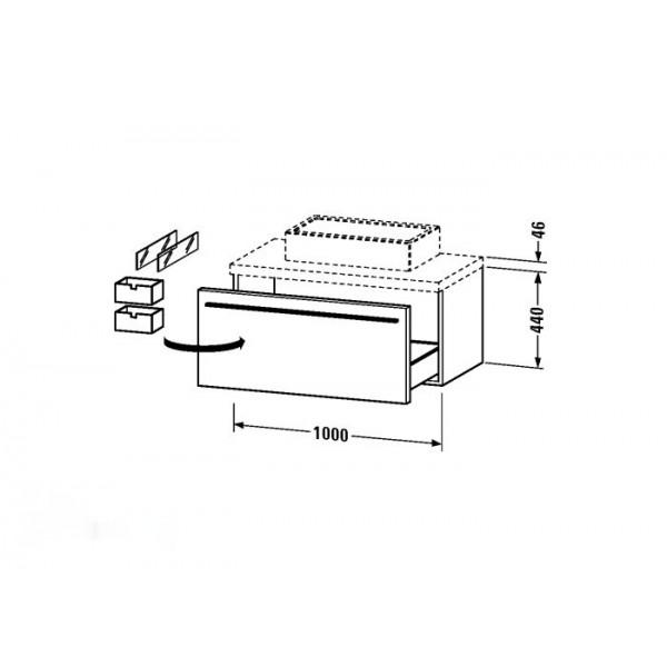 Duravit Тумба подвесная X-LARGE XL671508383