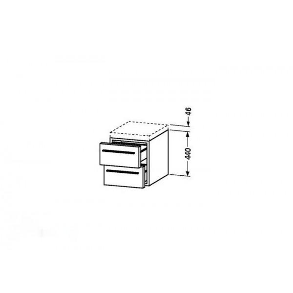 Duravit Тумба подвесная X-LARGE XL672102828