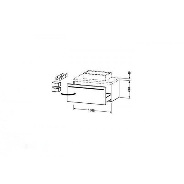 Duravit Тумба подвесная X-LARGE XL671508585