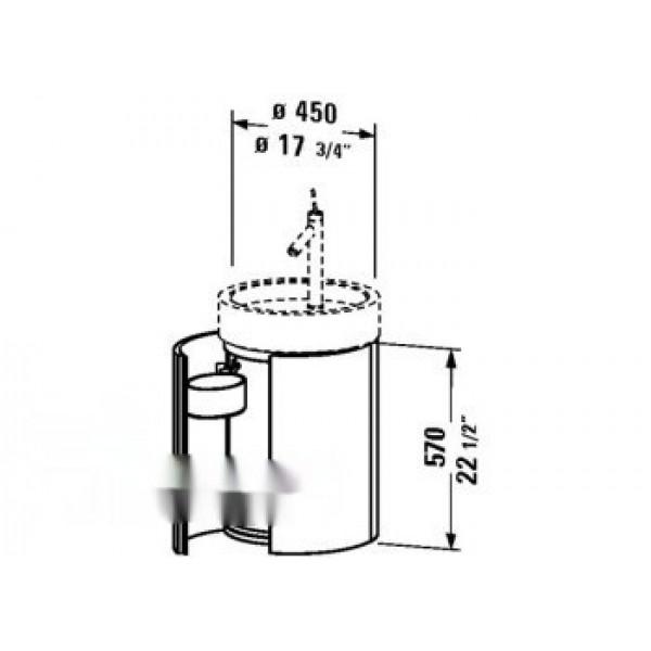 Duravit Тумба под раковину STARCK S1952308585