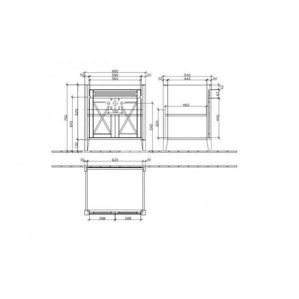 Villeroy&Boch Тумба под раковину Hommage 8995 00R2