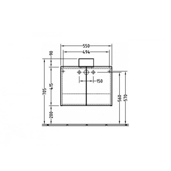 Villeroy&Boch Тумба под раковину Frame To Frame A802 00NP