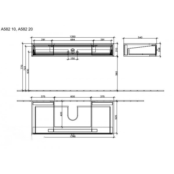 Villeroy&Boch Тумба под раковину La Belle A583 20DU
