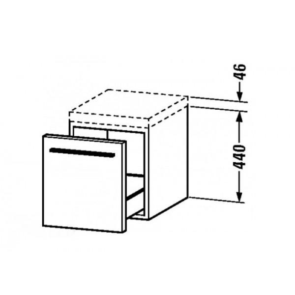 Duravit Тумба подвесная с 1 ящиком X-LARGE XL673202828