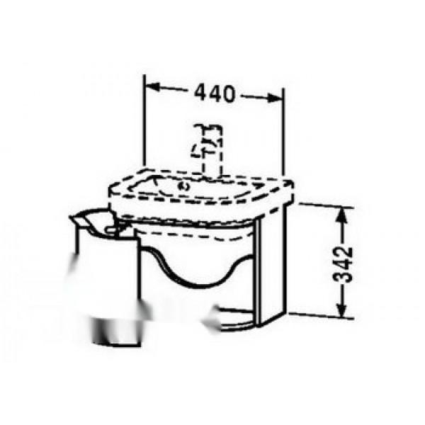 Duravit Тумба под раковину HAPPY D. HD6283L2222