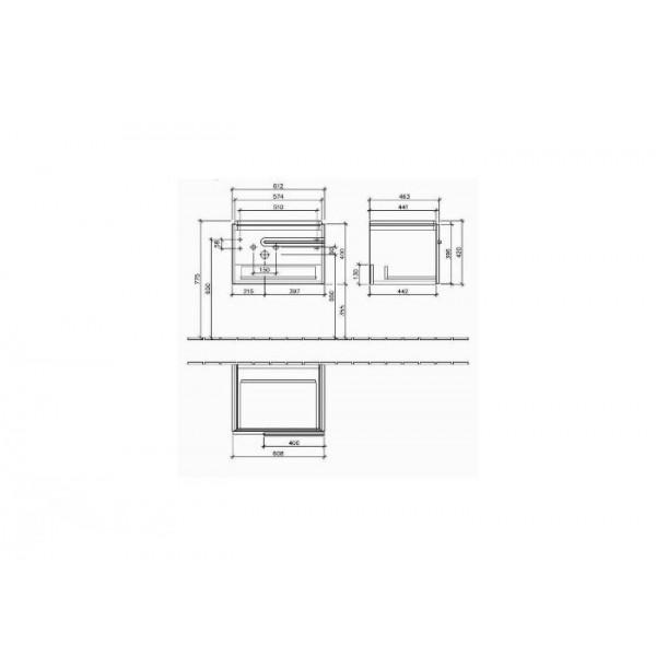 Villeroy&Boch Тумба под раковину подвесная Joyce A862 00FQ