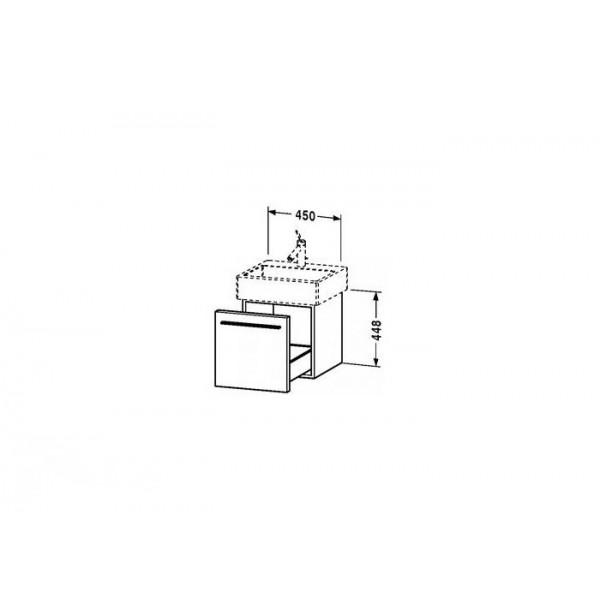 Duravit Тумба под раковину подвесная X-LARGE XL604302222