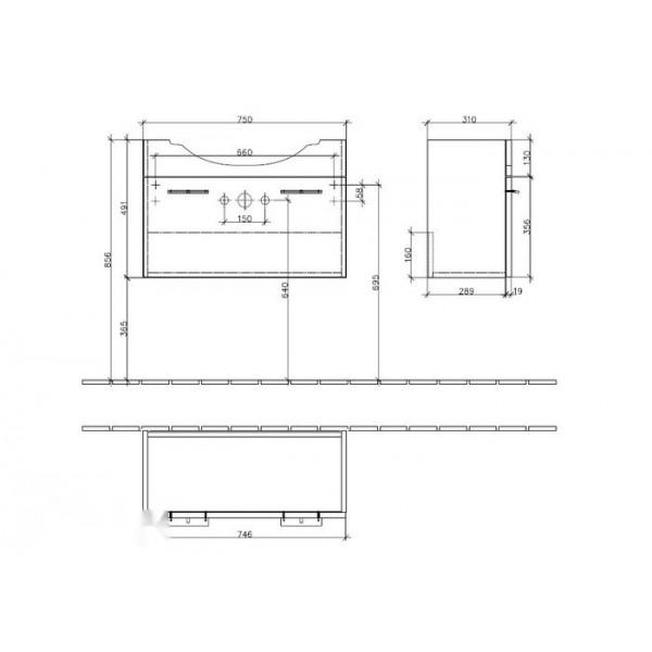 Villeroy&Boch Тумба под раковину CX Central Line A285 N1BM