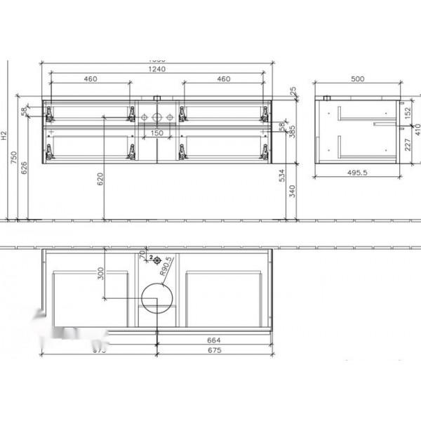 Villeroy&Boch Тумба под раковину подвесная Shape A523 DJDJ