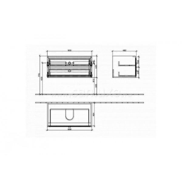 Villeroy&Boch Тумба под раковину La Belle A584 10 DJ