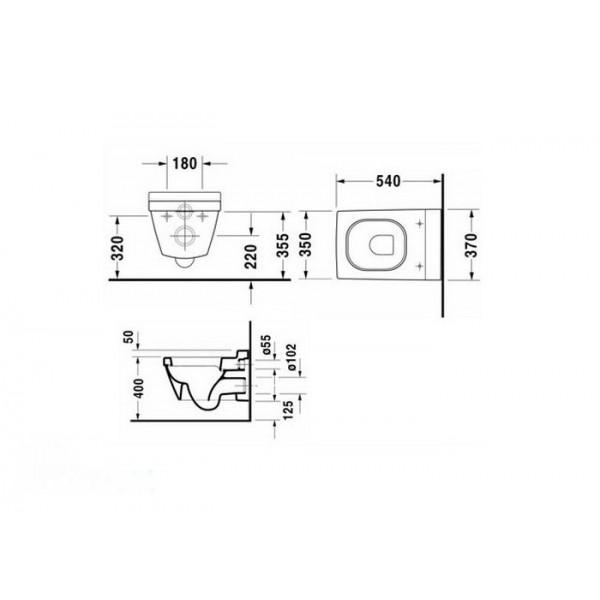 Duravit Унитаз подвесной 2nd FLOOR 22200900001-WG