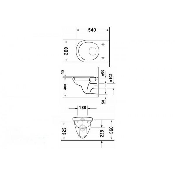 Duravit Durastyle унитаз подвесной 25520900 с сиденьем 00637900