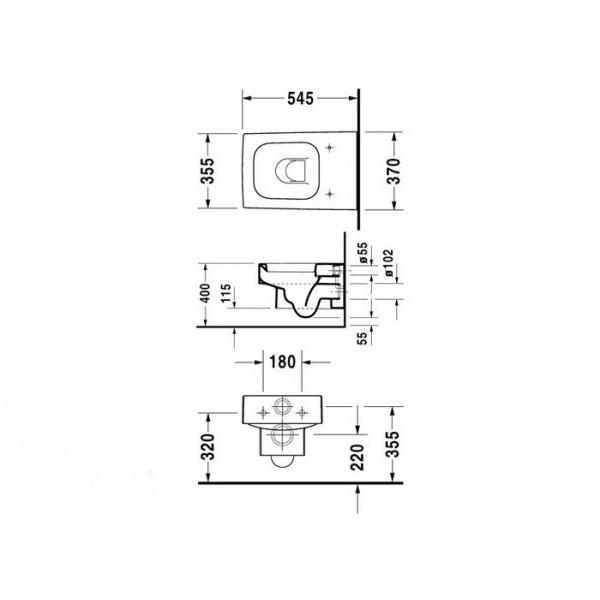 Duravit Унитаз подвесной VERO 22170900641-WG