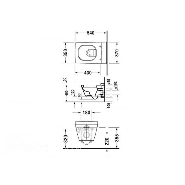Duravit Унитаз подвесной 2nd FLOOR 22050900001-WG