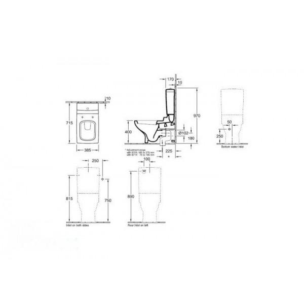 Villeroy&Boch Унитаз напольный La Belle 5647 10R1 (564710R1)