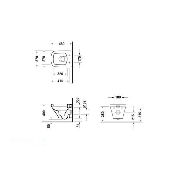 Duravit Унитаз подвесной DuraStyle 2539090000