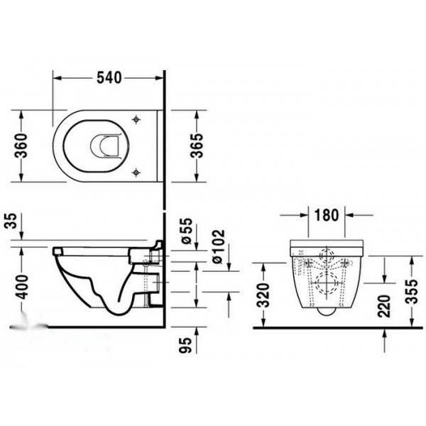 Duravit Унитаз подвесной STARCK 3 22250900001-WG
