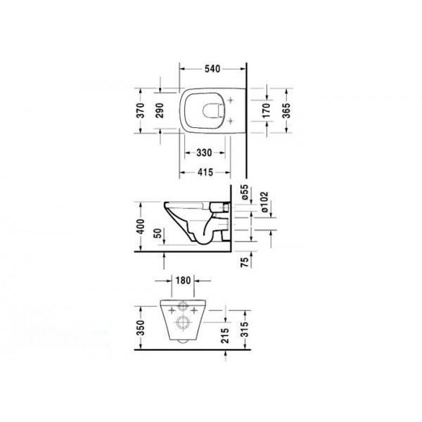 Duravit Унитаз подвесной DURASTYLE 25380900001-WG