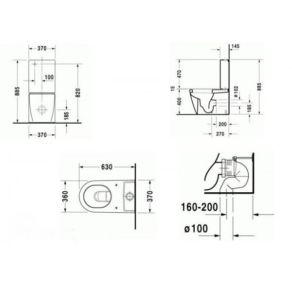 Duravit Унитаз напольный Starck 2 21450900001-WG