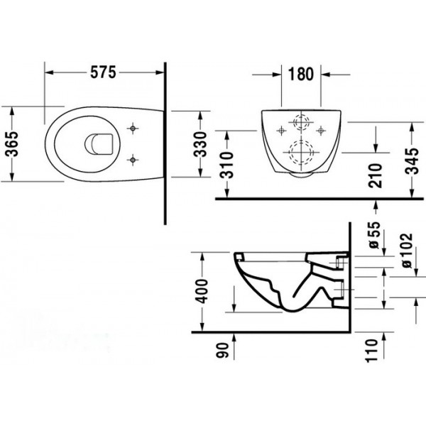 Duravit Унитаз подвесной белый ARCHITEC 25460900641-WG