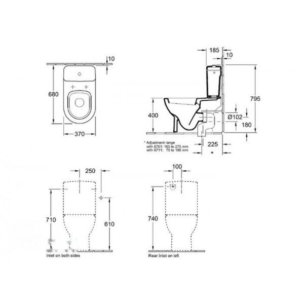 Villeroy&Boch Унитаз-компакт Subway 6610 10 01 (6610 1001)