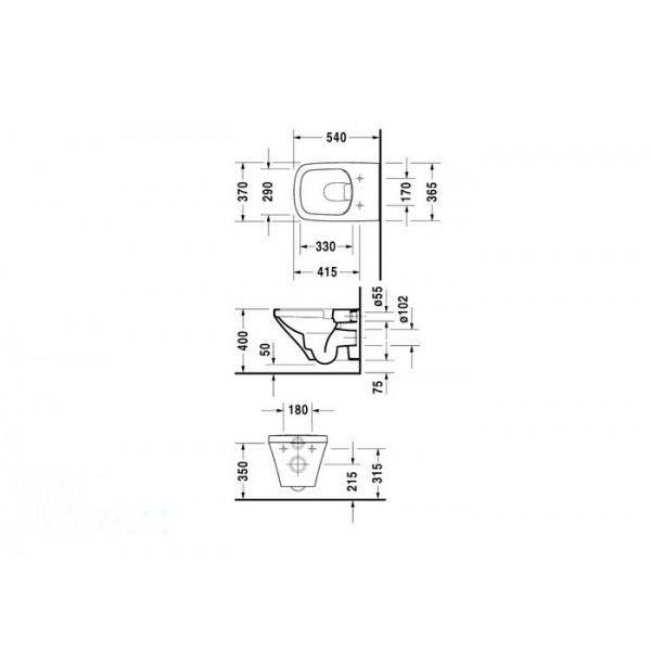 Duravit Унитаз подвесной DuraStyle 2538090000