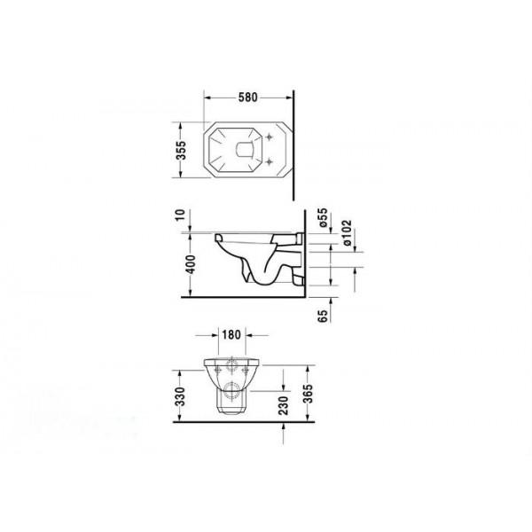 Duravit Унитаз подвесной 1930 01820900001-WG 1930