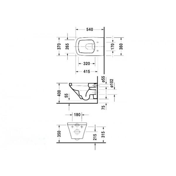 Duravit Унитаз подвесной DURASTYLE 25360900001-WG