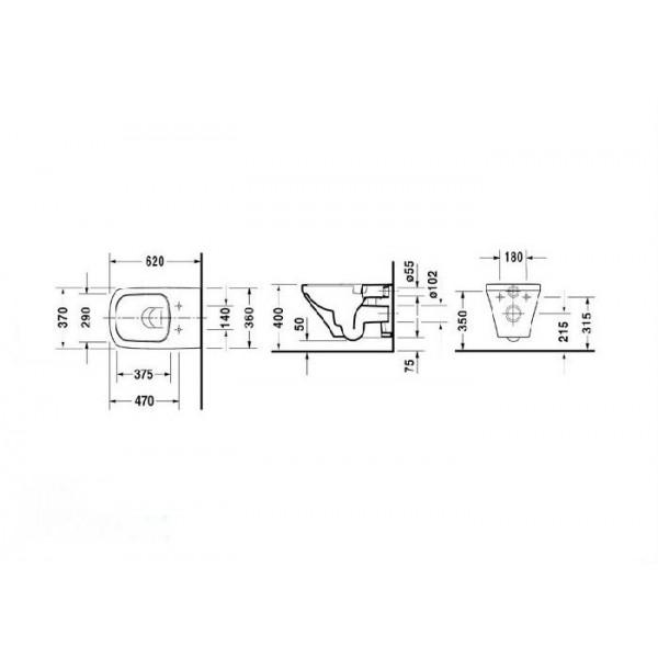 Подвесной унитаз Duravit DuraStyle 25420900001-WG