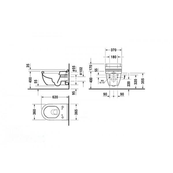Duravit Унитаз подвесной STARCK 3 22265900001-WG
