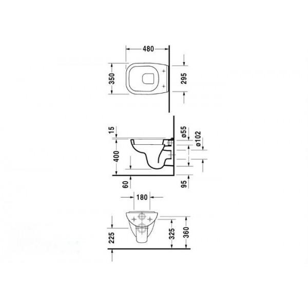 Duravit Унитаз подвесной D-Code 22110900002