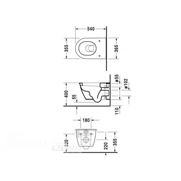 Duravit Унитаз подвесной DARLING NEW 25450900001-WG