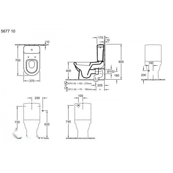 Villeroy&Boch Унитаз напольный Omnia Architectura 5677 10R1 (567710R1)