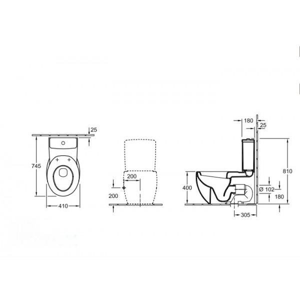 Villeroy&Boch Унитаз напольный Aveo 6614 10R2 (661410R2)