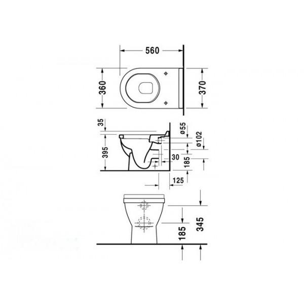 Duravit Унитаз напольный STARCK 3 01240900001-WG