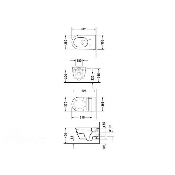 Duravit Унитаз подвесной DARLING NEW 25440900001-WG