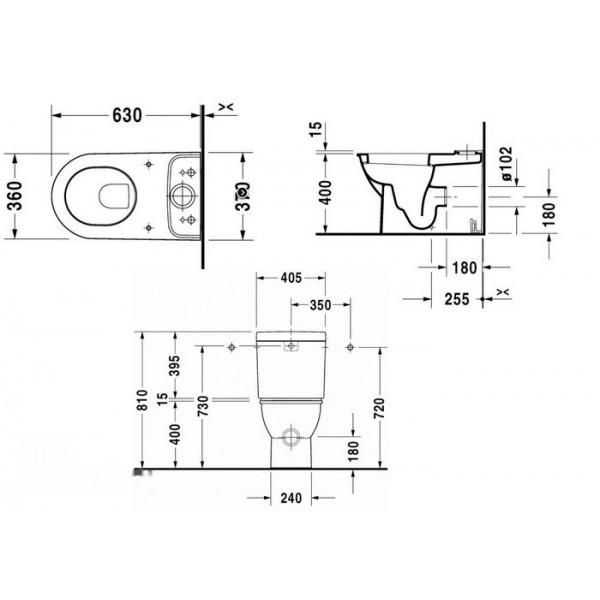 Duravit Унитаз напольный DARLING NEW 21380900001-WG