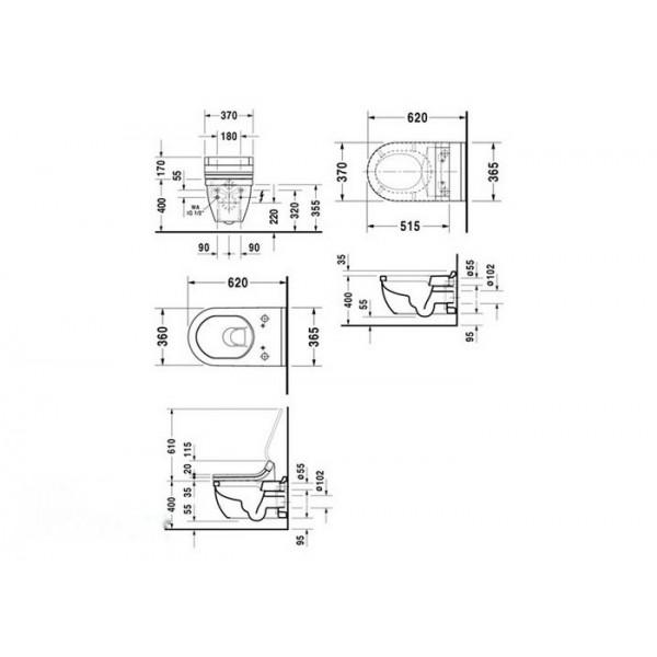 Duravit Унитаз подвесной STARCK 3 2226090000 (222609)
