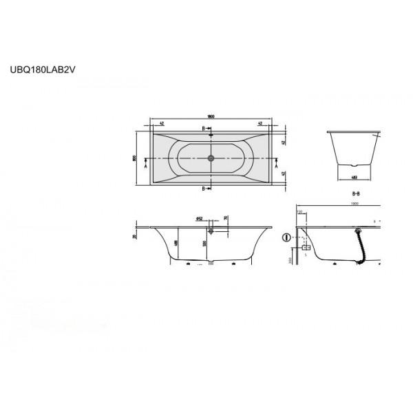 Villeroy&Boch Ванна свободностоящая La Belle UBQ180LAB2PDT1V-01