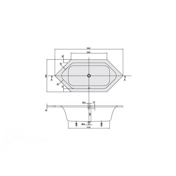 Villeroy&Boch Ванна 190х90см Loop&Friends Square UBA199LFS6V-01