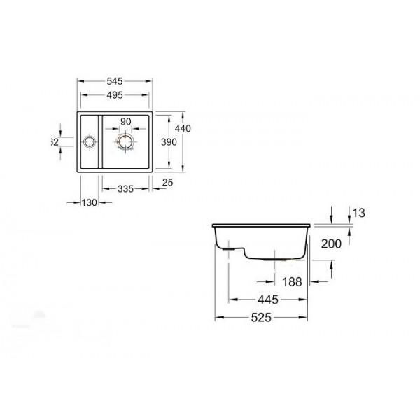 Villeroy&Boch Мойка керамическая Subway XU 6758 01R1