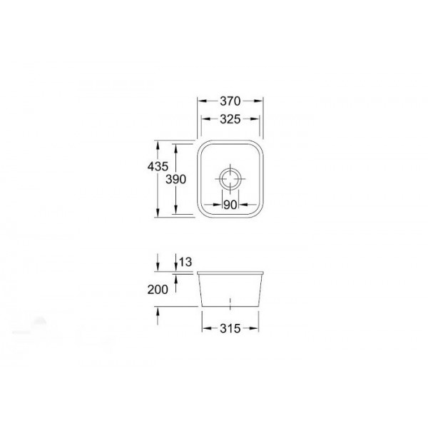 Villeroy&Boch Мойка керамическая Cisterna 45 6704 01I4