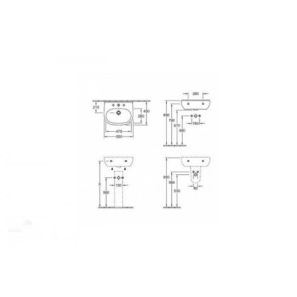 Villeroy&Boch Раковина O'novo Style 5160 0D (5160 3B01)