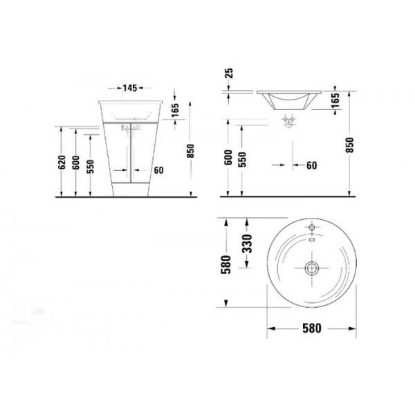 Duravit Раковина для мебели STARCK 1 0406580000