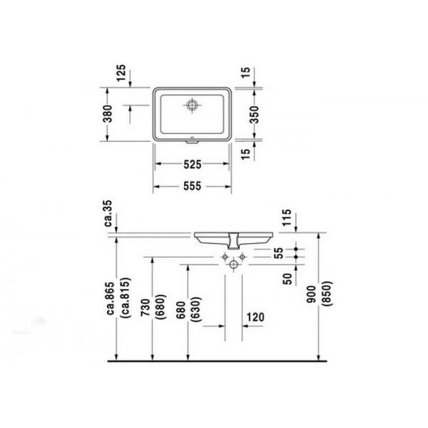 Duravit Раковина встроенная 2nd FLOOR 03165300001-WG