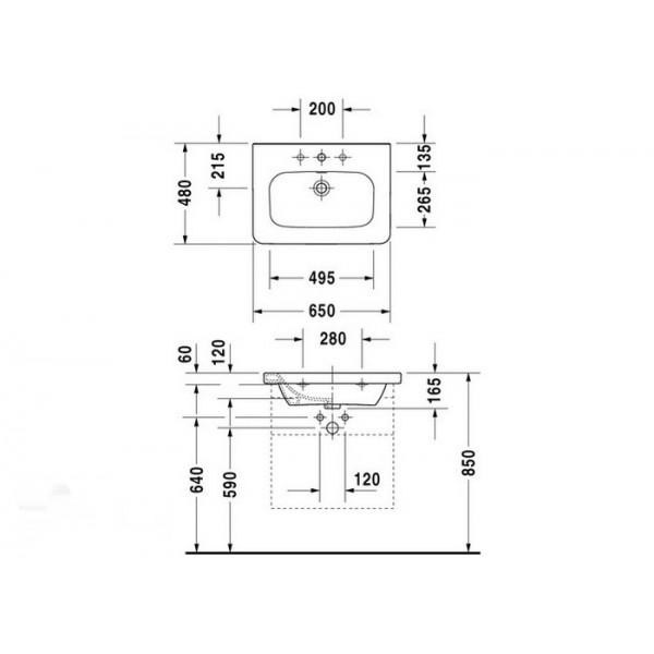 Duravit Раковина-столешница белая DURASTYLE 23206500001-WG
