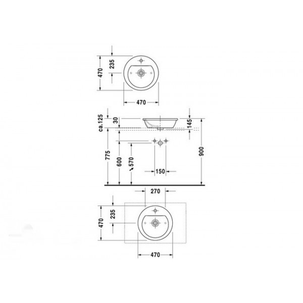 Duravit Раковина белая DARLING NEW 04974700001-WG