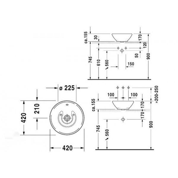 Duravit Раковина для мебели BACINO 0325420000