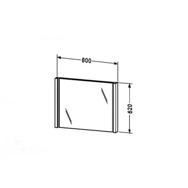 Duravit Зеркало с подсветкой 2nd FLOOR 2F964705959